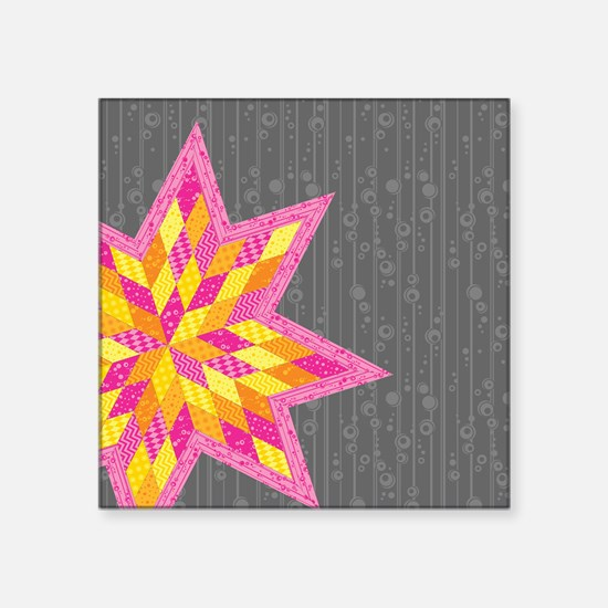"Morgan's Star Square Sticker 3"" x 3"""