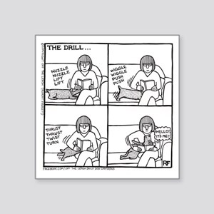 "The Drill Square Sticker 3"" x 3"""
