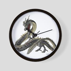 The Silver Dragon Wall Clock
