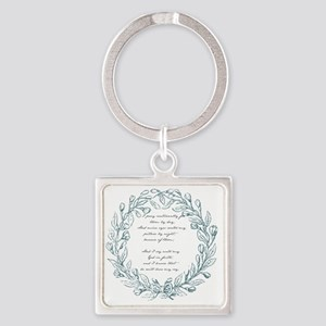 I pray continually for them by day Square Keychain