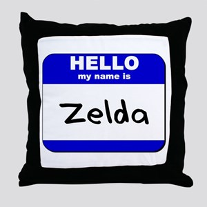 hello my name is zelda  Throw Pillow