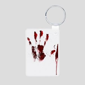 The Red Hand Aluminum Photo Keychain