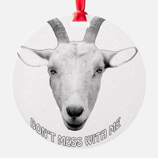BUTT OUT GOAT Ornament