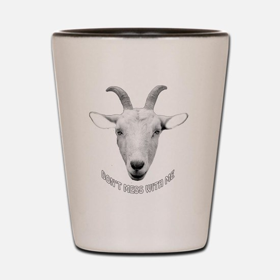 BUTT OUT GOAT Shot Glass