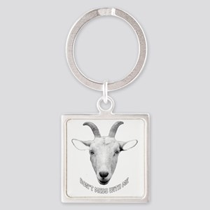 BUTT OUT GOAT Square Keychain