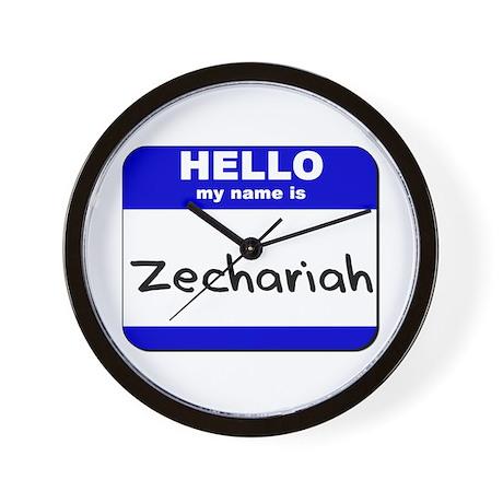 hello my name is zechariah Wall Clock