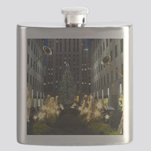 NY Holiday 23X18 Flask