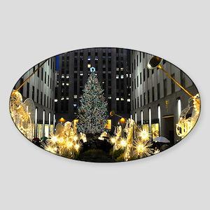 NY Holiday 23X18 Sticker (Oval)