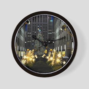 NY Holiday 23X18 Wall Clock