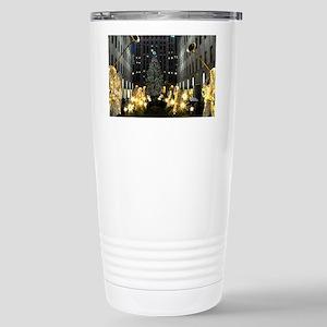 NY Holiday 23X18 Stainless Steel Travel Mug