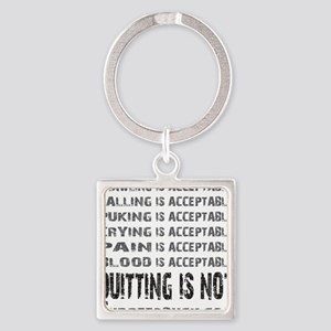 ACCEPTABLE - WHITE Square Keychain