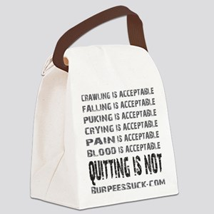 ACCEPTABLE - WHITE Canvas Lunch Bag