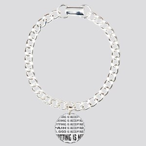 ACCEPTABLE - WHITE Charm Bracelet, One Charm