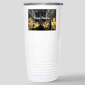 NY Happy Holidays Stainless Steel Travel Mug