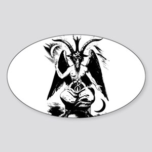Baphomet Oval Sticker