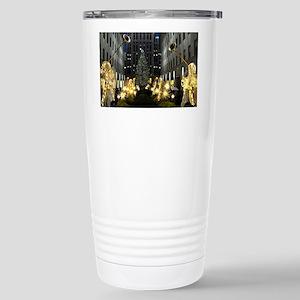 NY Holiday 13X9 Stainless Steel Travel Mug