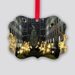 NY Holiday 13X9 Picture Ornament