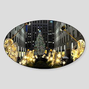 NY Holiday 13X9 Sticker (Oval)