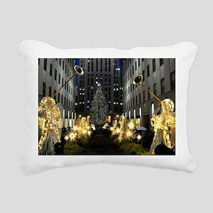 NY Holiday 13X9 Rectangular Canvas Pillow