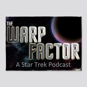 THE WARP  FACTOR - Poster 5'x7'Area Rug