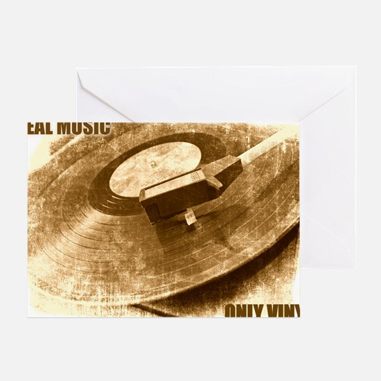 Real Music Only Vinyl Greeting Card