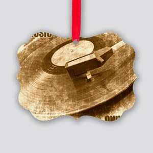 Real Music Only Vinyl Picture Ornament