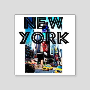 "NewYork_12x12_TimesSquare Square Sticker 3"" x 3"""