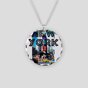 NewYork_12x12_TimesSquare Necklace Circle Charm