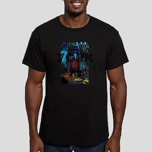NewYork_12x12_TimesSqu Men's Fitted T-Shirt (dark)