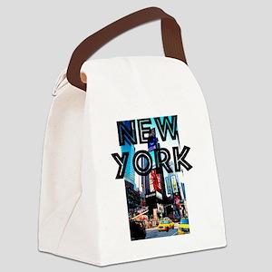 NewYork_12x12_TimesSquare Canvas Lunch Bag