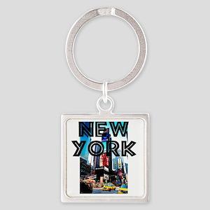 NewYork_12x12_TimesSquare Square Keychain