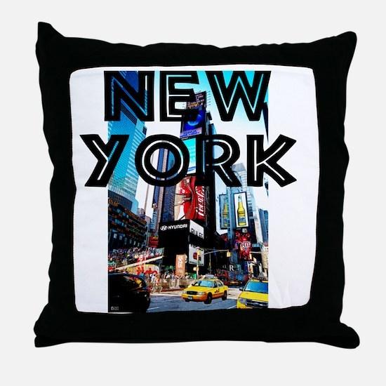 NewYork_12x12_TimesSquare Throw Pillow