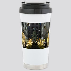 NY Holiday 11X15 Stainless Steel Travel Mug