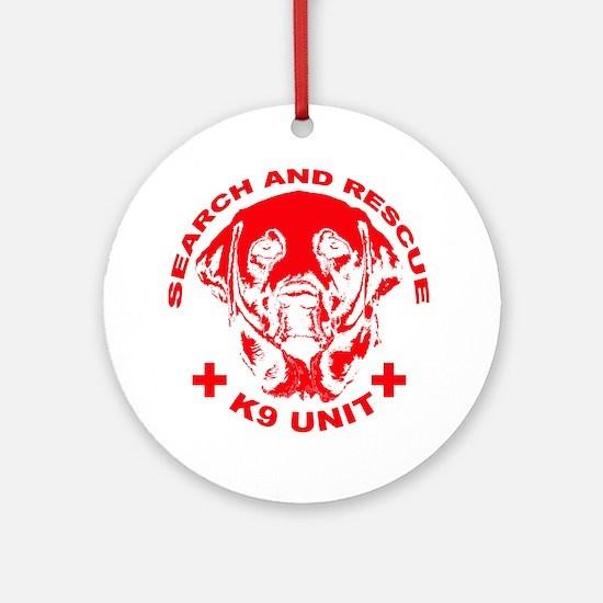 K9 UNIT red Round Ornament