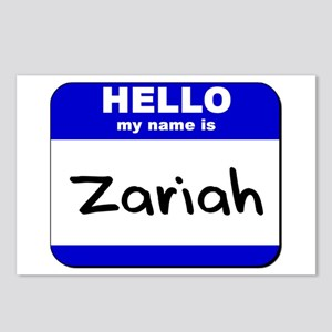 hello my name is zariah  Postcards (Package of 8)