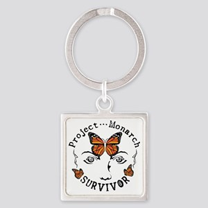 Project Monarch Survivor Square Keychain