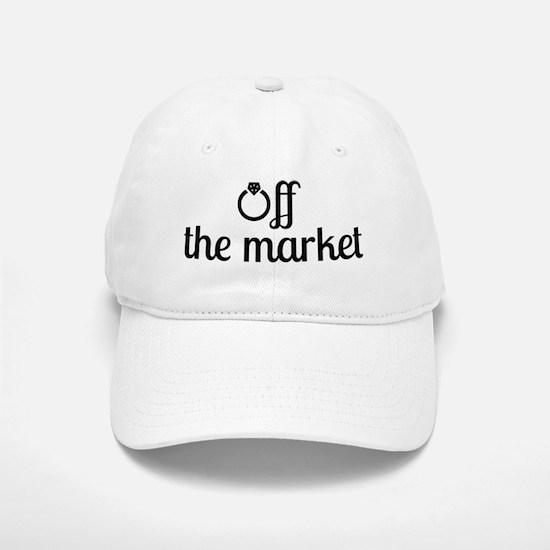 Off the Market Bride Baseball Baseball Cap