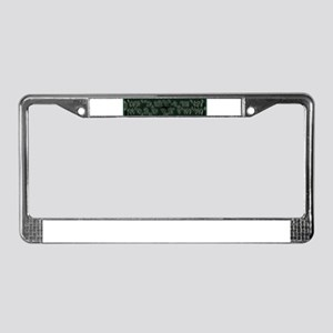 Writing on the Wall License Plate Frame