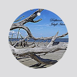 Driftwood Beach Round Ornament
