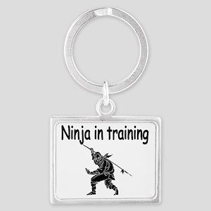 Ninja in Training Landscape Keychain