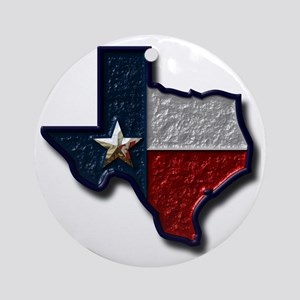 Texas Round Ornament