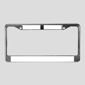 Dark Spiral License Plate Frame