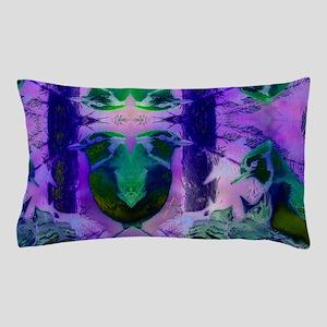 Abstract Rose Birds – Violet & Pin Pillow Case