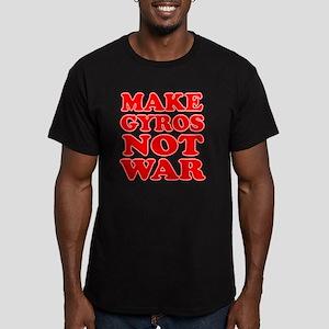Make Gyros Not War Apr Men's Fitted T-Shirt (dark)