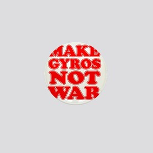 Make Gyros Not War Apron Mini Button