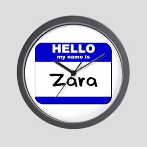 hello my name is zara  Wall Clock