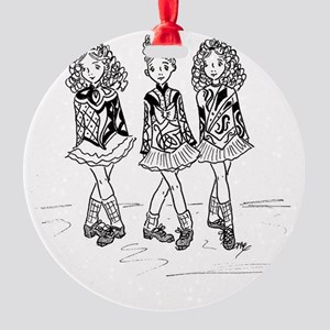 3 Dancers Round Ornament