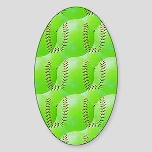 Softball Sticker (Oval)