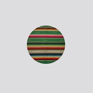 Vintage Green Mexican Serape Mini Button