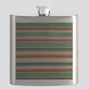 Vintage Green Mexican Serape Flask